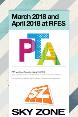 March 2018 and April 2018 at RFES