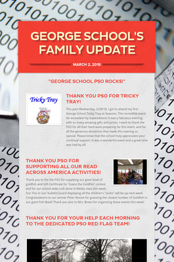 George School's Family Update