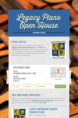 Legacy Plano Open House