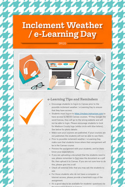 Inclement Weather / e-Learning Day