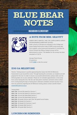 Blue Bear Notes