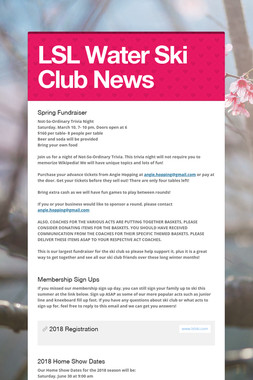 LSL Water Ski Club News