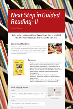 Next Step in Guided Reading- II