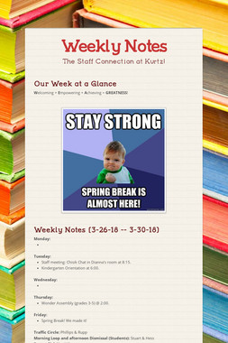 Weekly Notes