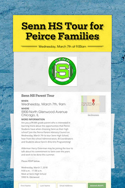Senn HS Tour for Peirce Families