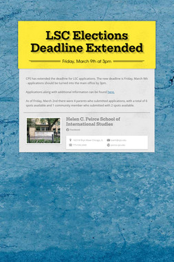 LSC Elections Deadline Extended