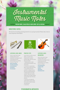 Instrumental Music Notes