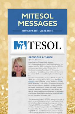 MITESOL Messages