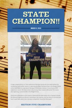 State Champion!!