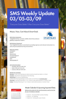SMS Weekly Update 03/05-03/09