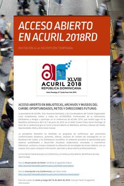 ACCESO ABIERTO EN ACURIL 2018RD