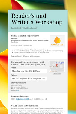 Reader's and Writer's Workshop