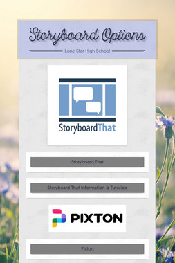 Storyboard Options