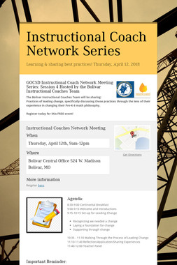 Instructional Coach Network Series