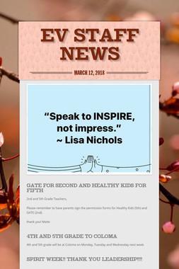 EV Staff News