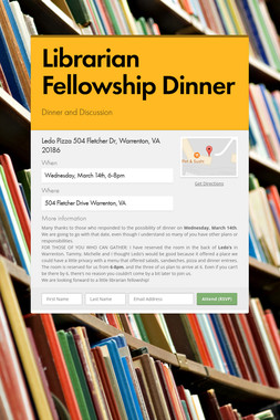 Librarian Fellowship Dinner