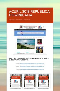 ACURIL 2018 REPÚBLICA DOMINICANA