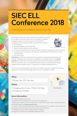 Save the Date! SIEC ELL Conference