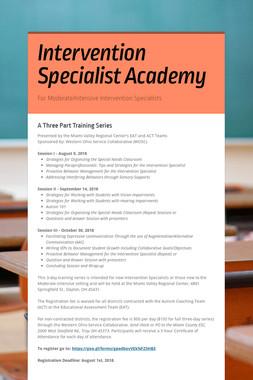 Intervention Specialist Academy