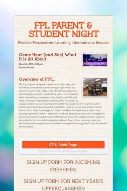 FPL PARENT & STUDENT NIGHT