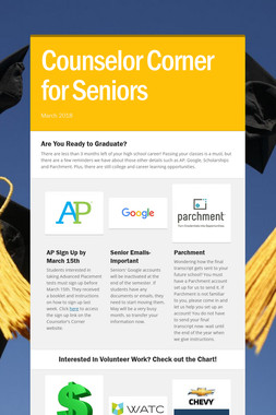 Counselor Corner for Seniors
