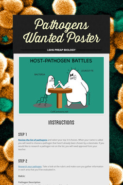 Pathogens Wanted Poster
