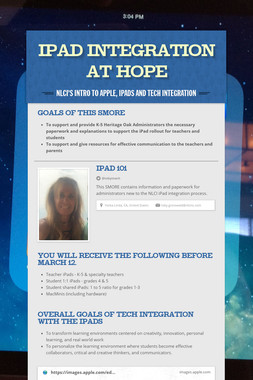 iPad Integration at HOPE