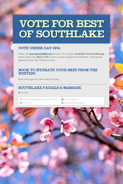 Vote for Best of Southlake
