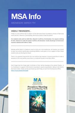 MSA Info