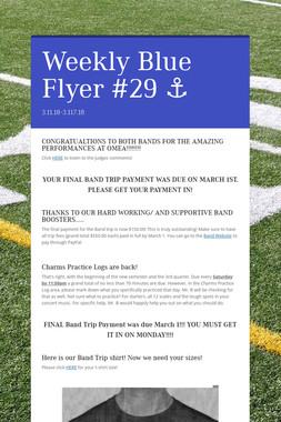 Weekly Blue Flyer #29   ⚓️