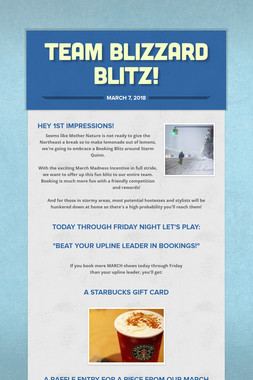 Team Blizzard Blitz!