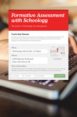 Formative Assessment with Schoology