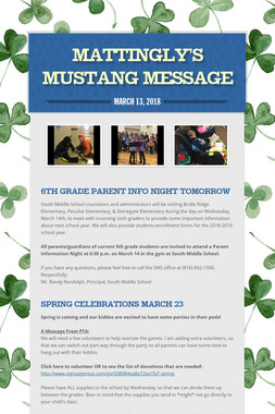 Mattingly's Mustang Message