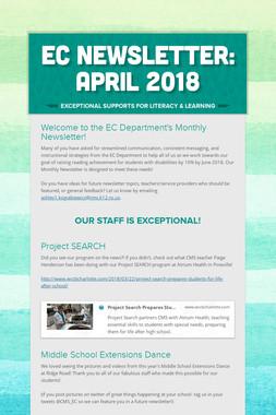 EC Newsletter: April 2018
