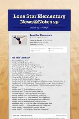 Lone Star Elementary News&Notes 29