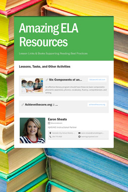 Amazing ELA Resources