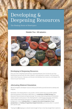 Developing & Deepening Resources