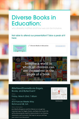 Diverse Books in Education: