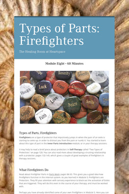 Types of Parts: Firefighters