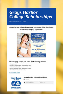 Grays Harbor College Scholarships