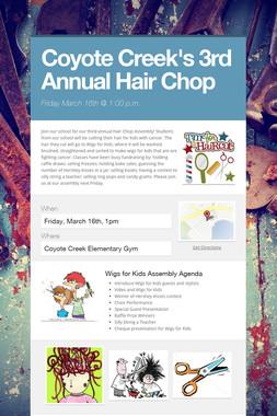Coyote Creek's 3rd Annual Hair Chop