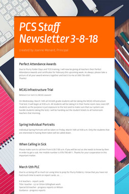 PCS Staff Newsletter 3-8-18