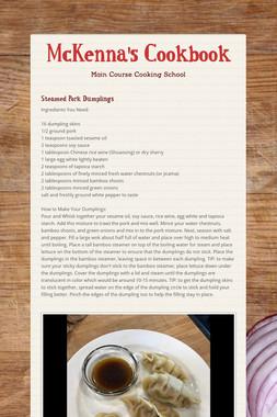 McKenna's Cookbook