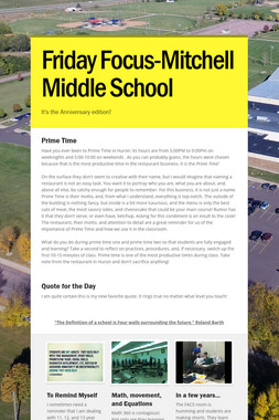 Friday Focus-Mitchell Middle School