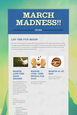 MARCH MADNESS!!
