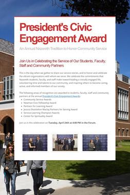 President's Civic Engagement Award