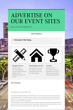 ADVERTISE ON OUR EVENT SITES