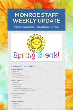 Monroe Staff Weekly Update