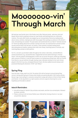 Mooooooo-vin' Through March