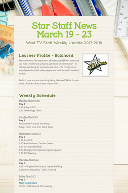 Star Staff News   March 19 - 23